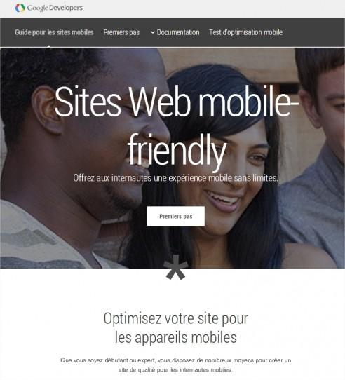 Guide des webmasters de sites mobiles - Google Chrome