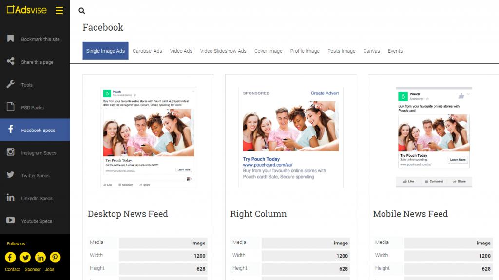adsvise taille publicités réseaux sociaux