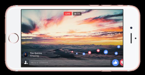 facebook live plein ecran