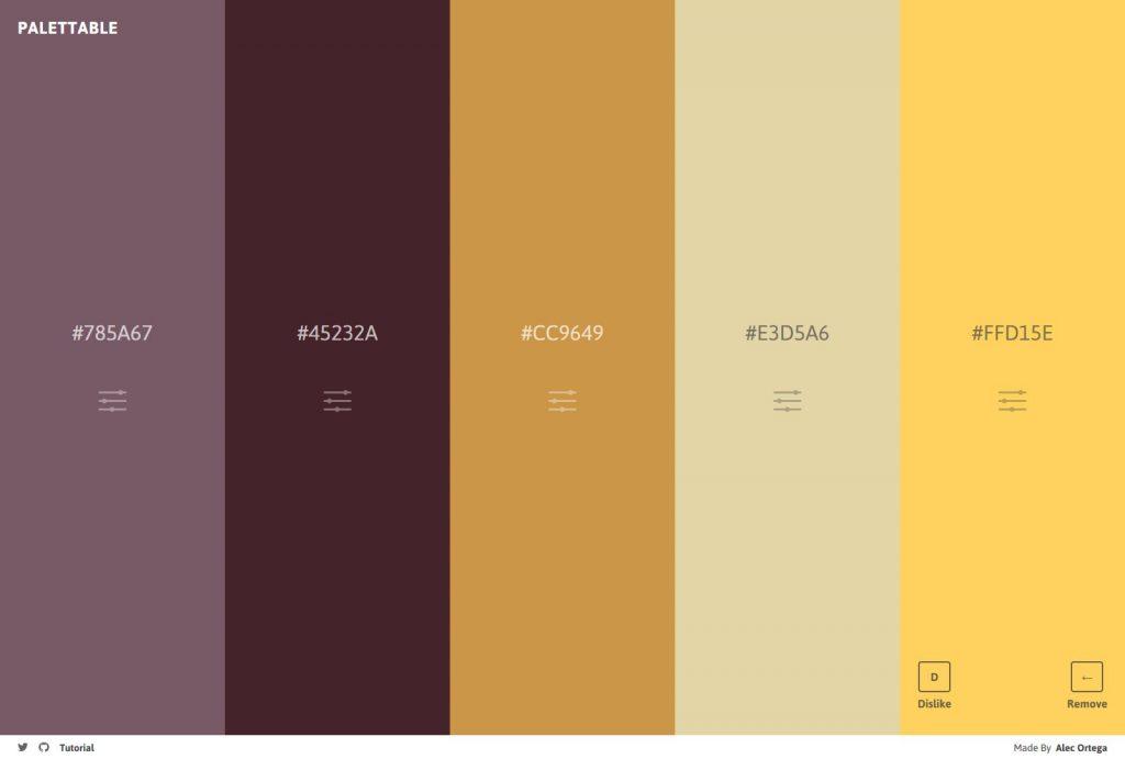 Pelettable palette de couleurs