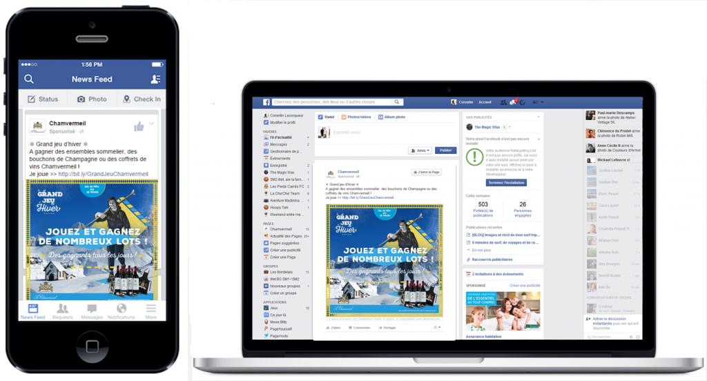 jeu Facebook mobile réseaux sociaux