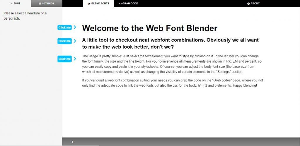 The Web Font Blender