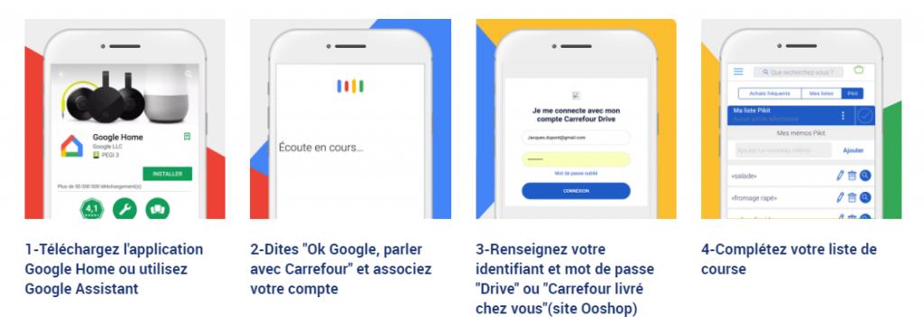 Parcours utilisation Achat Auchan via Google