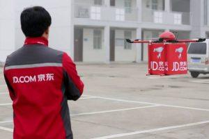 JD.com livre ses clients à l'aide de drônes